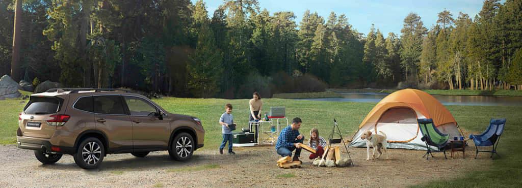 フォレスターでキャンプに行こう!道具の積載量やシートアレンジを動画で紹介!