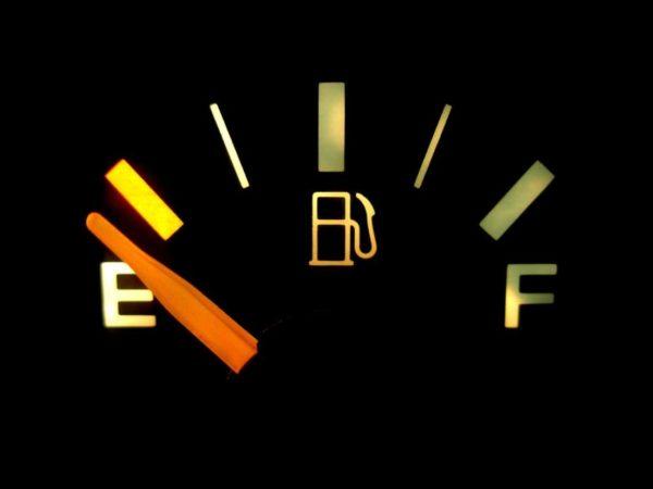 給油ランプがついての走行距離